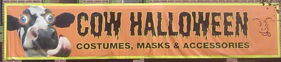Banner with Seasonal Advertisement for Halloween