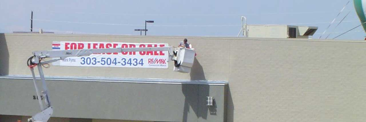 Picture of Advertising Banner Installation