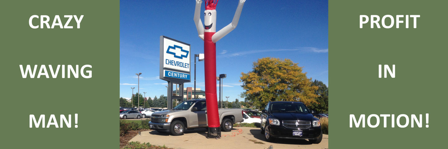 Dancing Inflatable Tube Man at Car Dealership in Broomfield, Colorado
