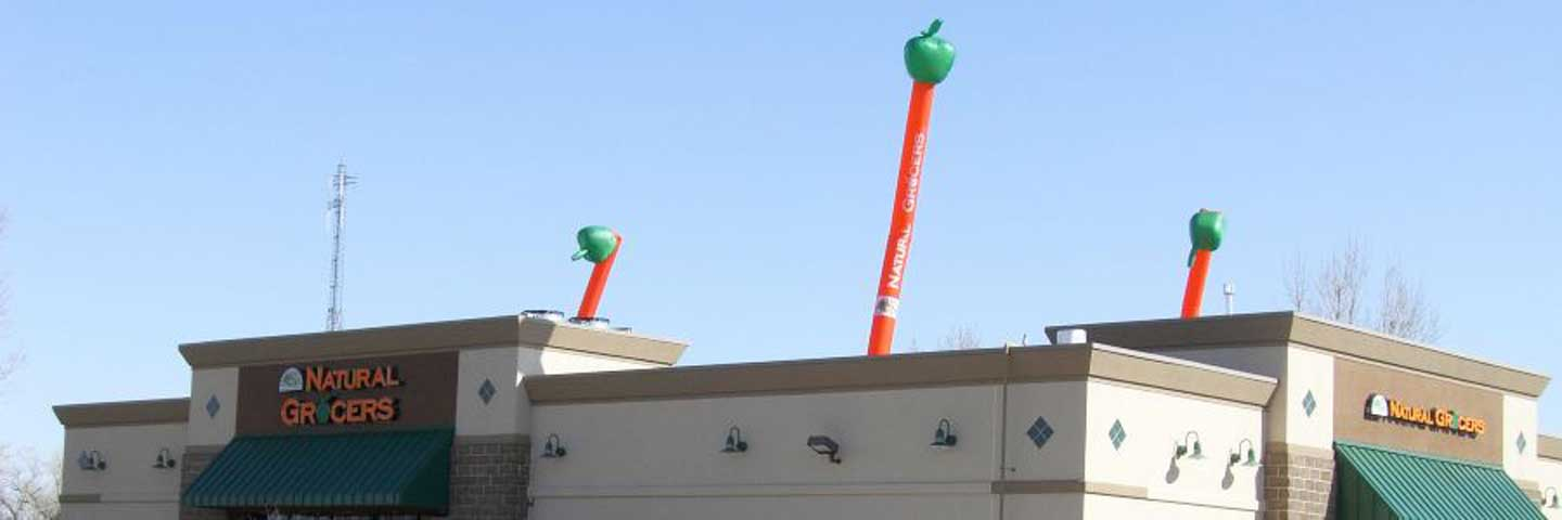 Tall Inflatable Waving Balloon Advertising Example