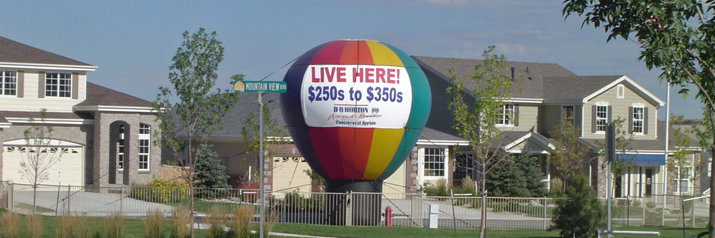 Balloon at Housing Development