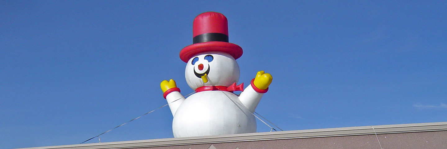 Inflatable Balloon Frosty Snowman Image