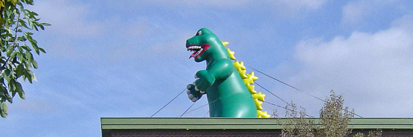Dinosaur Shape Roof Top Inflatable Advertising Balloon