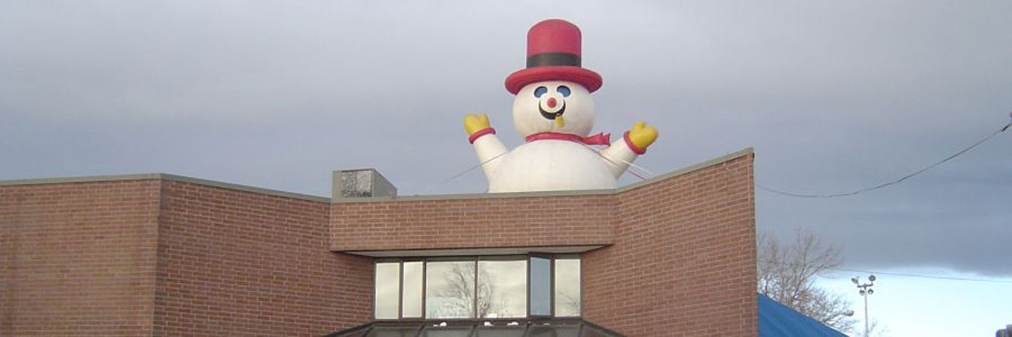 Inflatable Ballon Advertising Santa Claus on Roof
