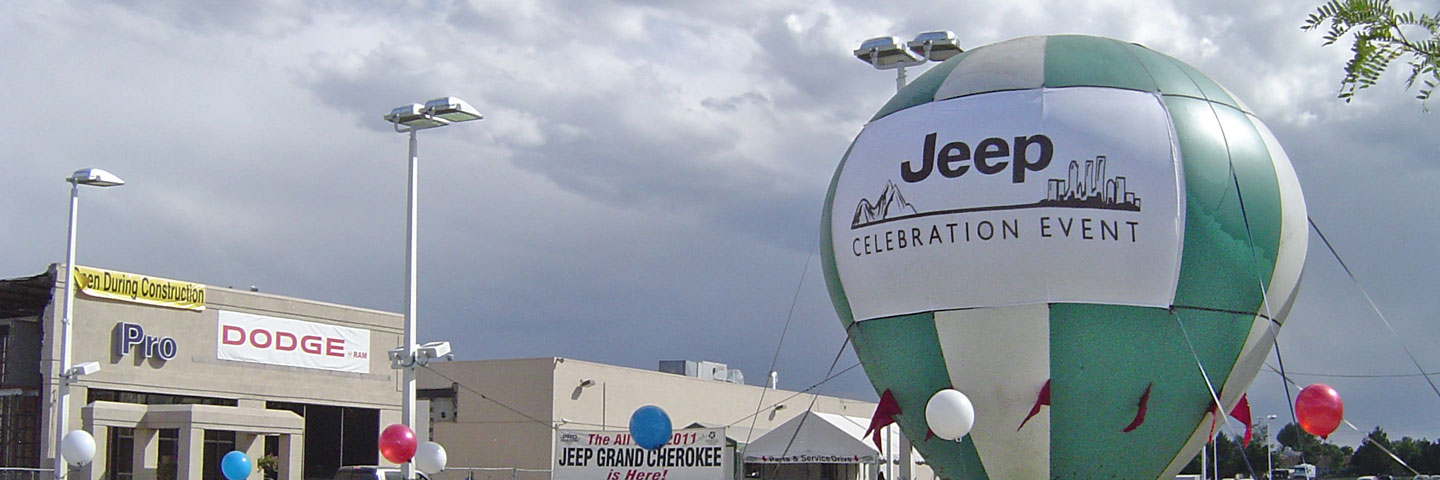 Balloon in Front of Car Dealership