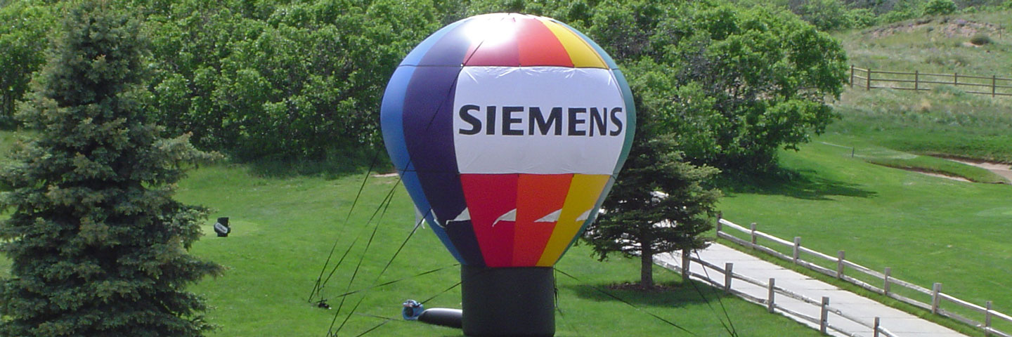 Classic Balloon Shape Inflatable on Golf Course