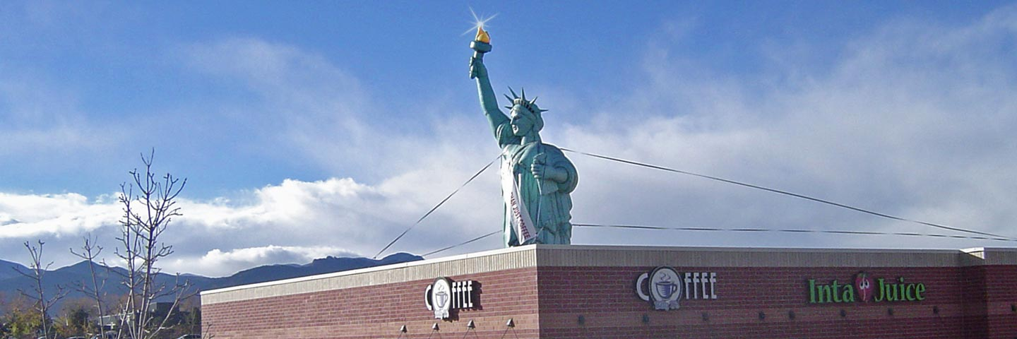 Inflated Statue of Liberty Balloon