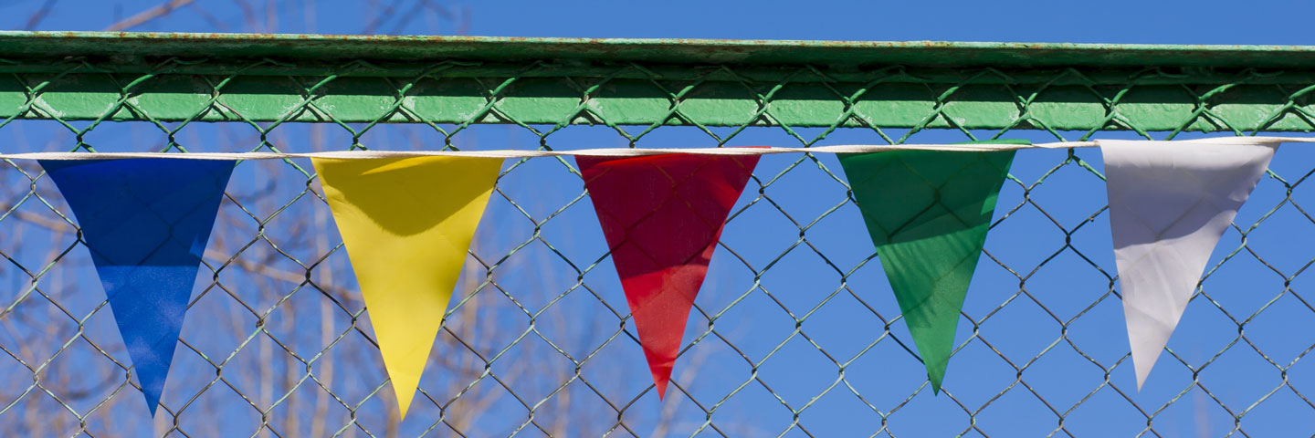 Brightly Colored Pennants